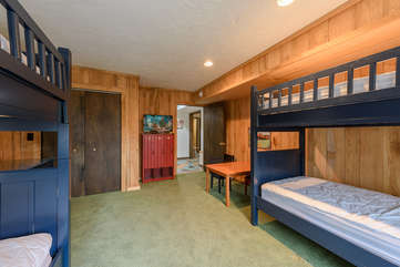 Downstairs Bunk Room with HD Smart TV