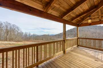 Layered Long Range Views from the Wrap-around Covered Porches