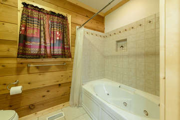 Jetted Tub with Shower in Master Bathroom