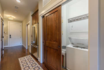 Washer/Dryer in Utility Closet of Condo 303B