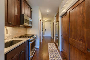 Kitchen and Entryway for Condo 303B