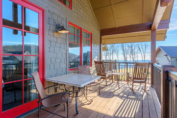 Private Deck with Rocking Chairs, Table for Two