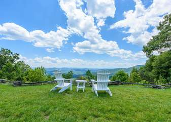 Adirondack Chairs at one of the Blue Ridge Mtn Club Overlooks