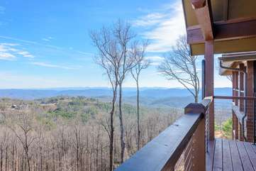 Mountain Views from the Deck of the Condo