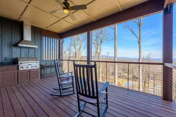 Main Level Deck with Gas Grill and Outdoor Dining Set to come