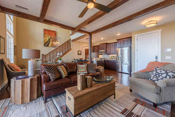 Upscale yet Comfy Furniture throughout