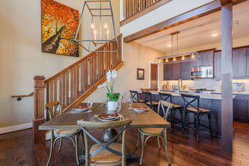 Open Dining Area with Cool Chandelier