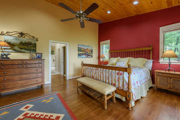 Master Bedroom at Linville Ridge Retreat