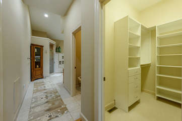 Large walk-in closet in Master Bedroom suite