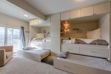 Two Twin Beds and Two Twin Trundle Beds sleep 4 Comfortably!