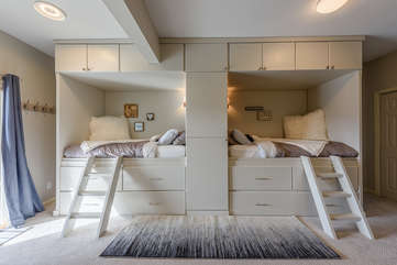 Downstairs Bedroom with Built-In Twin Beds