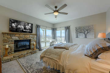 King Master Suite with Fireplace, 55