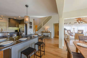Open Main Level Floorplan with Kitchen and Dining open to Great Room and Foyer