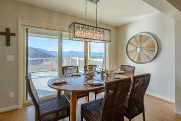 Amazing Views from Kitchen and Dining Table!