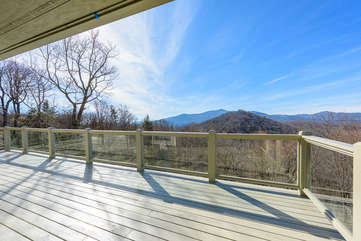 Killer Mountain Views from Main Level Deck - Adirondack Chairs have since been added!