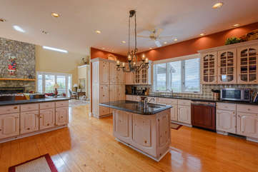 Large Kitchen with Custom Cabinetry