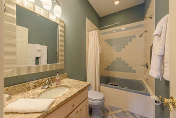 Main Level Bathroom with Shower and Large Jetted Tub