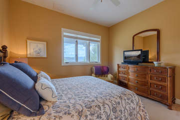 Main Level Bedroom with Queen Bed, Bathroom Adjacent