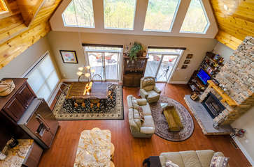Looking Down from Loft into Great Room