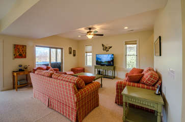 Downstairs Family Room with Large HDTV