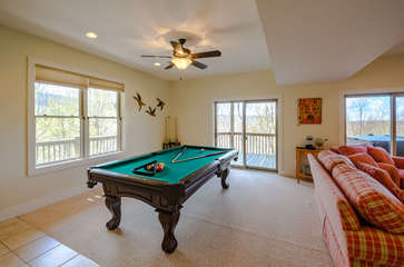Slate Pool Table in Downstairs Family Room