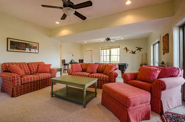 Plenty of Room for the Family in Downstairs Family and Game Room!