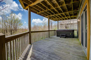 Lower Level Rear Deck with Hot Tub