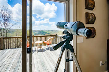 Telescope to See the Stars at Night, and Wildlife During the Day