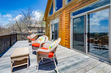 Comfy Outdoor Furniture on Main Level Rear Deck