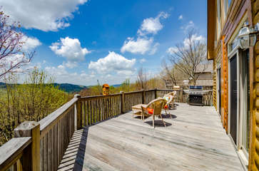 Amazing Mountain Views from Main Level Rear Deck