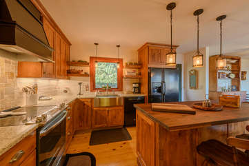 Kitchen with Granite Counters and Updated Appliances