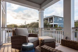 Porch overlooking pool off first floor Master