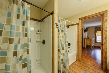 Private ensuite Master Bathroom with Tub and separate Shower