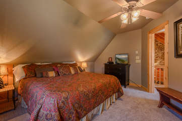 Upstairs King Bedroom Suite with HDTV
