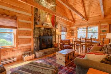 Wood Burning Fireplace in Great Room