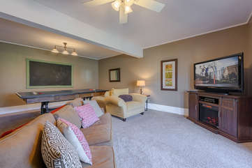 Comfy Furniture to Relax in Downstairs Den