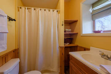 Downstairs Ensuite Full Bathroom with Shower