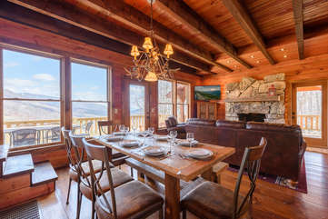 Majestic View dining and living areas with beautiful view