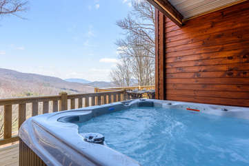 Majestic View hot tub with view