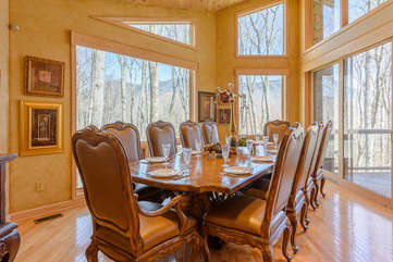 Formal Dining with Mountain Views