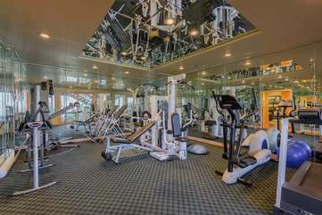 Fully-Equipped Gym and Exercise Room!