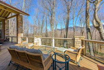 Mountain Views from Main Level Rear Deck