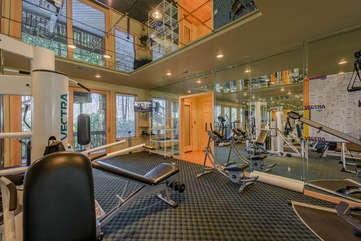 Gym and Exercise Room with HDTV