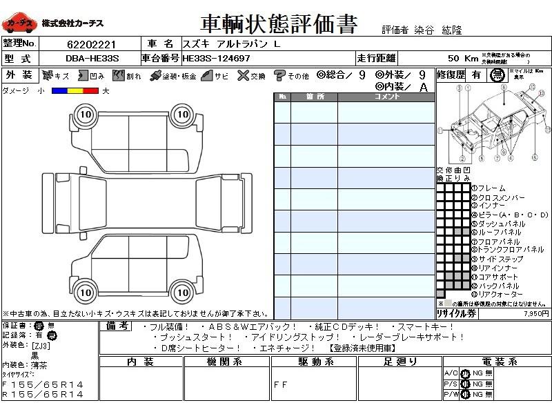 Used 2016 CVT Suzuki ALTO Lapin DBA-HE33S Image[3]