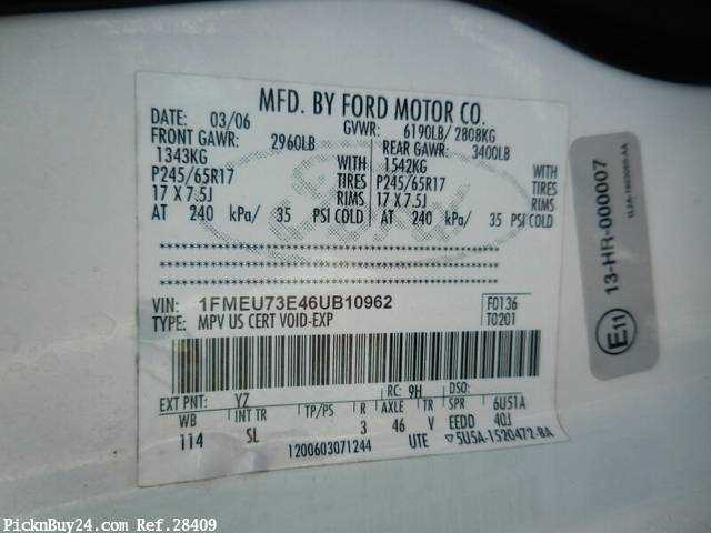 Used 2007 AT Ford Explorer GH-1FMEU74 Image[24]