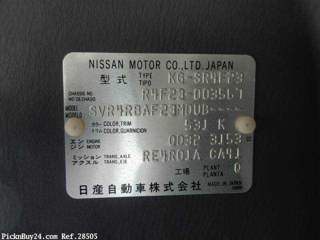 Used 1998 AT Nissan Atlas KG-SR4F23 Image[23]