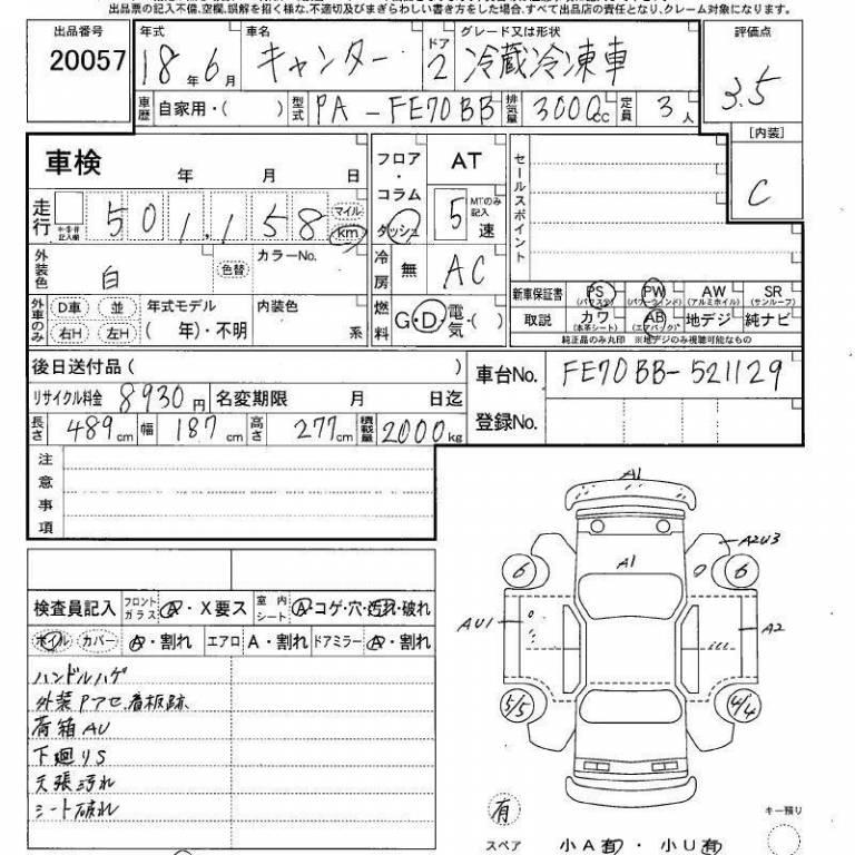 Used 2006 MT Mitsubishi Canter FE70BB Image[3]