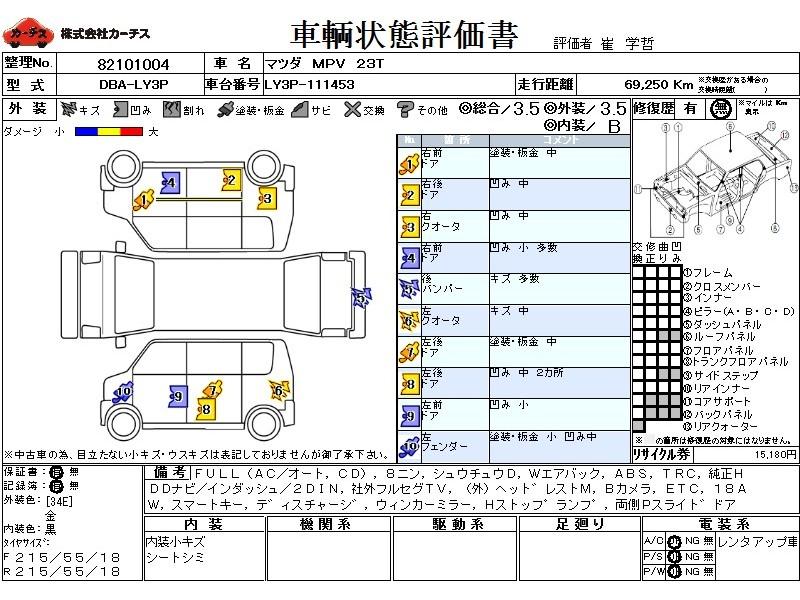 Used 2006 AT Mazda MPV DBA-LY3P Image[3]