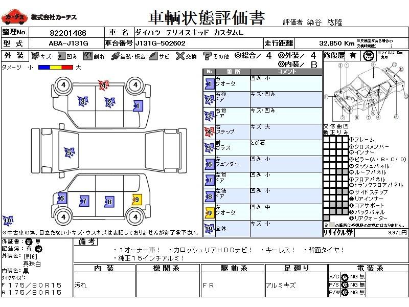 Used 2009 AT Daihatsu Terios Kid ABA-J131G Image[3]