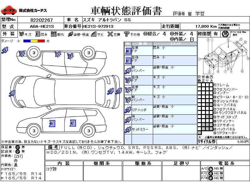 Used 2007 AT Suzuki ALTO Lapin ABA-HE21S Image[3]